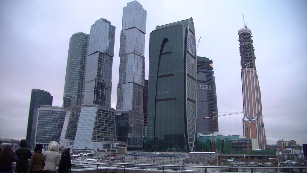 Moscow International Business Center, by Bakli [CC BY-SA 3.0 (https://creativecommons.org/licenses/by-sa/3.0)], from Wikimedia Commons